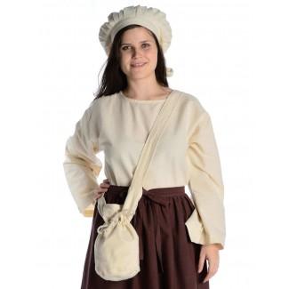 Mittelalter Tasche Amalaberga in Beige Frontansicht 2