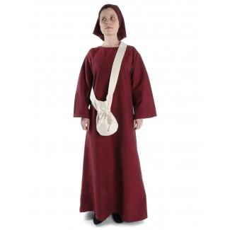 Mittelalter Tasche Amalaberga in Beige Frontansicht 3