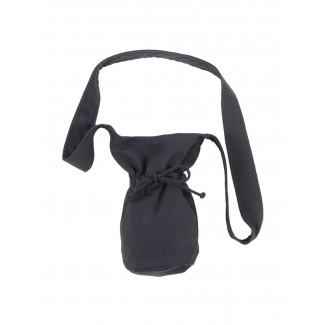 Mittelalter Tasche Amalaberga in Schwarz Frontansicht