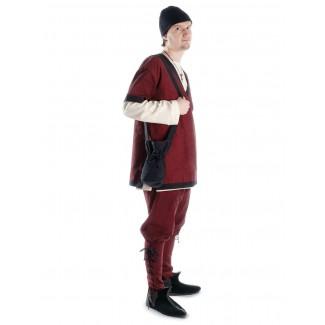 Mittelalter Tasche Amalaberga in Schwarz Frontansicht 2