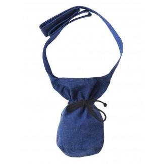 Mittelalter Tasche Amalaberga in Blau Frontansicht