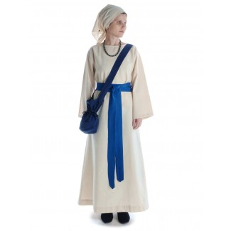 Mittelalter Tasche Amalaberga in Blau Frontansicht 3