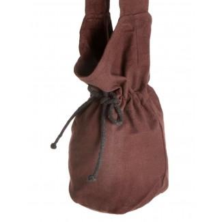 Mittelalter Tasche Amalaberga in Braun Detailansicht
