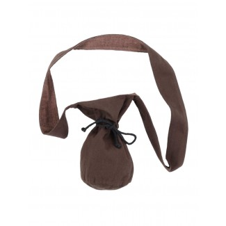 Mittelalter Tasche Amalaberga in Braun Frontansicht