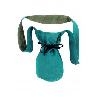 Mittelalter Tasche Amalaberga in Grün Frontansicht