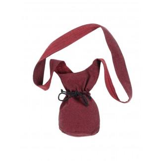 Mittelalter Tasche Amalaberga in Rot Frontansicht