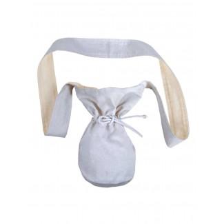 Mittelalter Tasche Amalaberga in Weiß Frontansicht