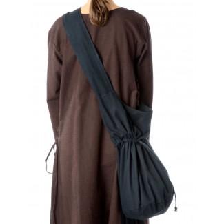 Mittelalter Tasche Irmenfried in Schwarz Rückansicht