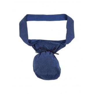 Mittelalter Tasche Irmenfried in Blau Frontansicht