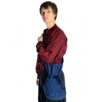 Mittelalter Tasche Irmenfried in Blau Frontansicht 2