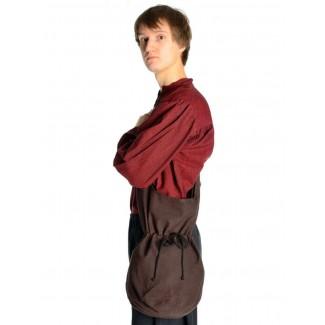 Mittelalter Tasche Irmenfried in Braun Frontansicht 2