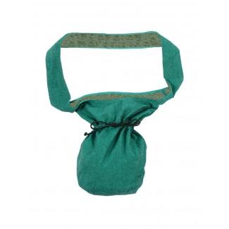 Mittelalter Tasche Irmenfried in Grün Frontansicht