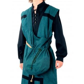 Mittelalter Tasche Irmenfried in Grün Frontansicht 2