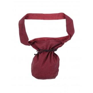 Mittelalter Tasche Irmenfried in Rot Frontansicht