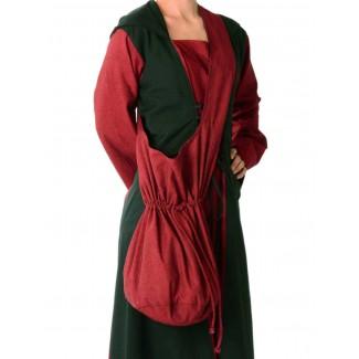 Mittelalter Tasche Irmenfried in Rot Frontansicht 2