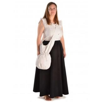Mittelalter Tasche Irmenfried in Weiß Frontansicht 2