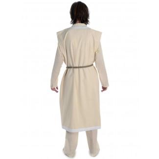 Wikinger Mantel Lurteun in Beige-Weiß Rückansicht