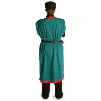 Wikinger Mantel Lurteun in Rot Rückansicht