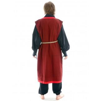 Wikinger Mantel Lurteun in Rot Rückansicht 2