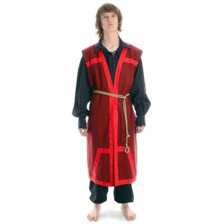 Wikinger Mantel Lurteun in Rot Frontansicht 2