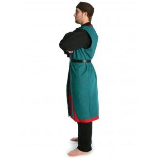 Wikinger Mantel Lurteun in Rot Seitenansicht