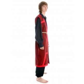Wikinger Mantel Lurteun in Rot Seitenansicht 2