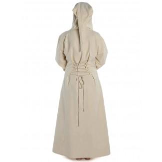 Mittelalter Kleid Liebgart in Beige Rückansicht