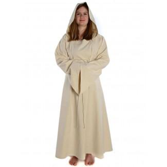 Mittelalter Kleid Liebgart in Beige Frontansicht