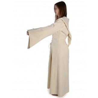 Mittelalter Kleid Liebgart in Beige Seitenansicht