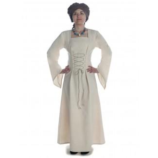 Mittelalter Kleid Amurfina in Beige Frontansicht 2