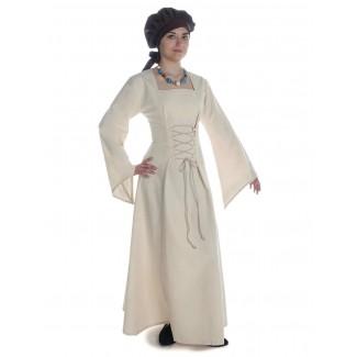 Mittelalter Kleid Amurfina in Beige Seitenansicht