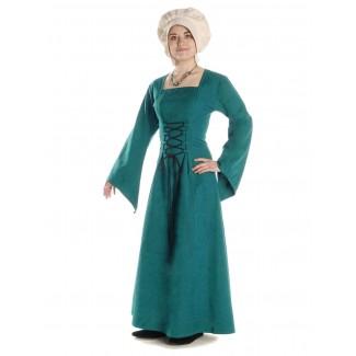 Mittelalter Kleid Amurfina in Grün Frontansicht 2