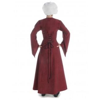Mittelalter Kleid Amurfina in Rot Rückansicht