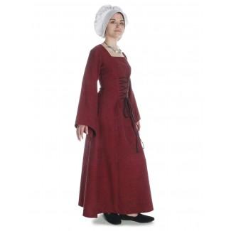 Mittelalter Kleid Amurfina in Rot Seitenansicht