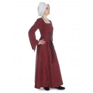 Mittelalter Kleid Amurfina in Rot Seitenansicht 2