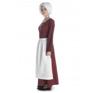 Mittelalter Kleid Amurfina in Rot Seitenansicht 3