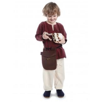 Mittelalter Kinderhose Postefar in Beige Frontansicht 3