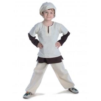 Mittelalter Kinderhose Postefar in Beige Frontansicht 5