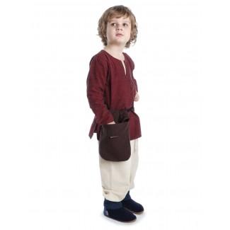 Mittelalter Kinderhose Postefar in Beige Seitenansicht 2