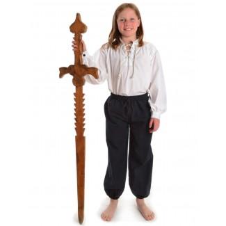 Mittelalter Kinderhose Postefar in Schwarz Frontansicht 2
