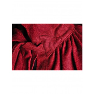 Mittelalter Umhang Ibelin in Rot Detailansicht