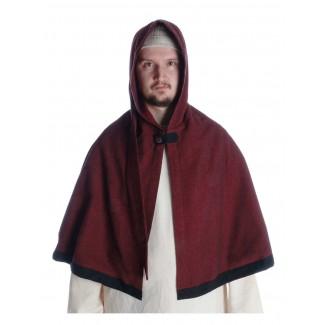 Mittelalter Pelerine Laurin in Rot Frontansicht