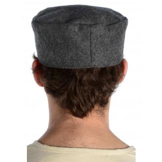 Mittelalter Kappe Machorel in Grau Rückansicht