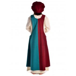 Mittelalter Surkot Irekel in Rot-Grün Rückansicht