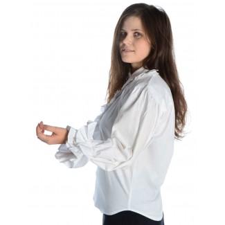 Mittelalter Bluse Siegelind in Weiß Seitenansicht