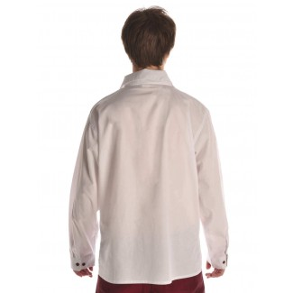 Mittelalter Schnürhemd Askalon in Weiß Rückansicht
