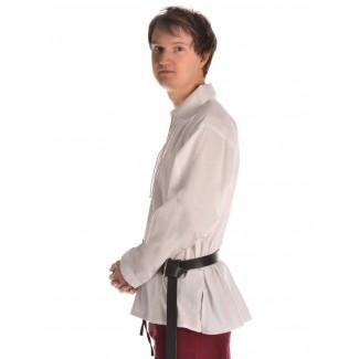 Mittelalter Schnürhemd Askalon in Weiß Seitenansicht
