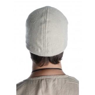 Wikinger Kappe Fafnir in Beige Rückansicht