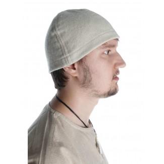 Wikinger Kappe Fafnir in Beige Seitenansicht