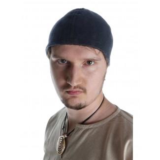 Wikinger Kappe Fafnir in Schwarz Frontansicht